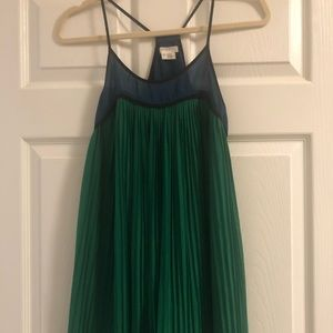 Green spaghetti strap dress